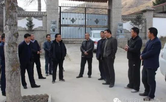 李平生检查指导南河乡花儿坡村精准扶贫工作
