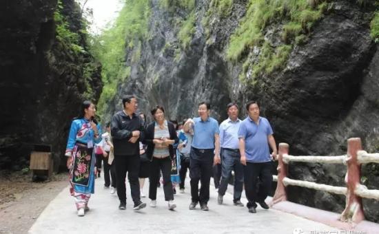 青岛市政协党组副书记、副主席杨宏钧一行深入宕昌考察旅游发展工作